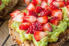 Strawberry Mango Guacamole Toast FTW!
