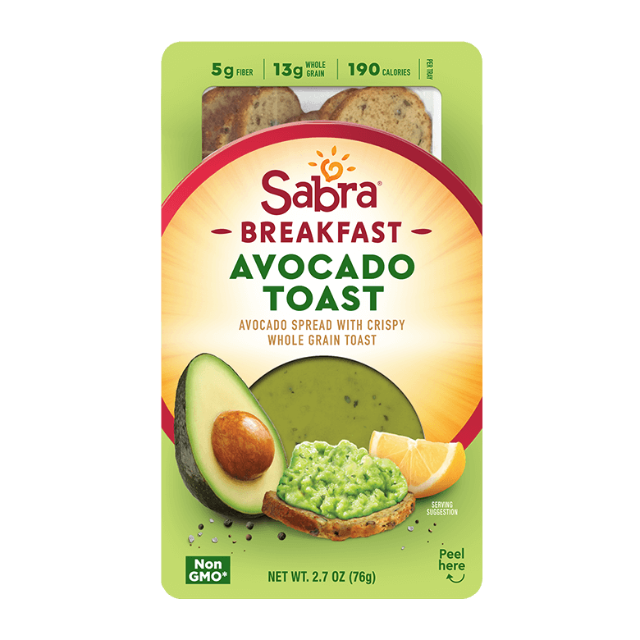 Sabra Breakfast Avocado Toast Hummus Guacamole Dips Spreads From Sabra