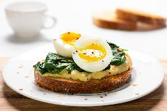 Egg and Spinach Hummus Toast