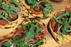 Grilled Pizzetta Hummus Flatbread